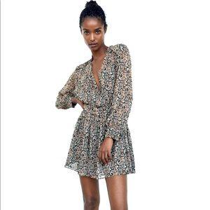 ZARA SPRING printed mini dress